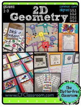 几何2D几何包:(共同核心3.G.1,2.G.1,1.G.1,1.G.2多边形和形状)此包包含超过100页的材料,用于教学生约2 - 三维几何。我创建它们与我的三年级学生和二年级儿子一起使用,使数学创造性和乐趣。