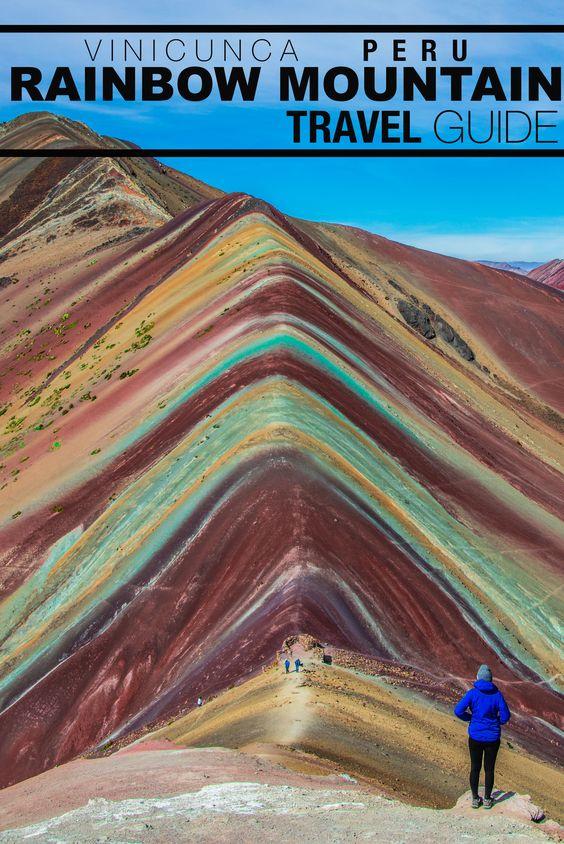 最完美的地方隐藏在安第斯山脉深处,秘鲁彩虹山。使用Flashpacker Connect进行不可思议的多彩山地徒步旅行。