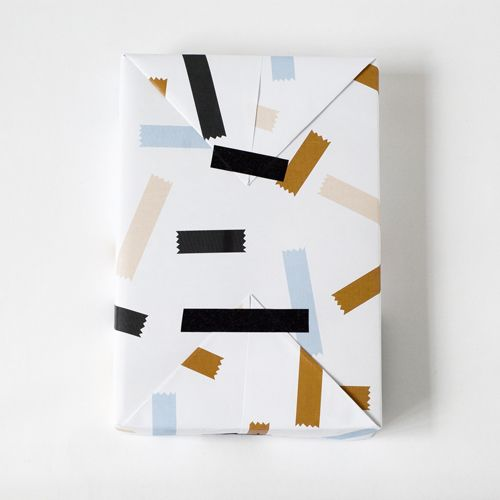 wrap paper with tape | Jessica Nielsen