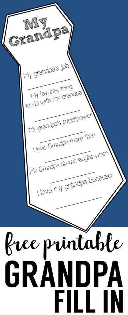 父亲节免费可打印卡片。 DIY父亲节填写卡是一个伟大的父亲节工艺。爸爸和爷爷父亲节快乐自制礼物。