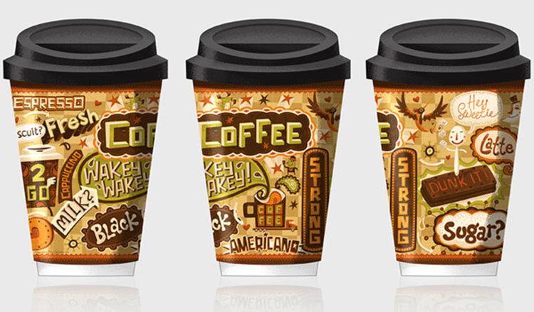 Caffeine Junkie by Steve Simpson, via Behance