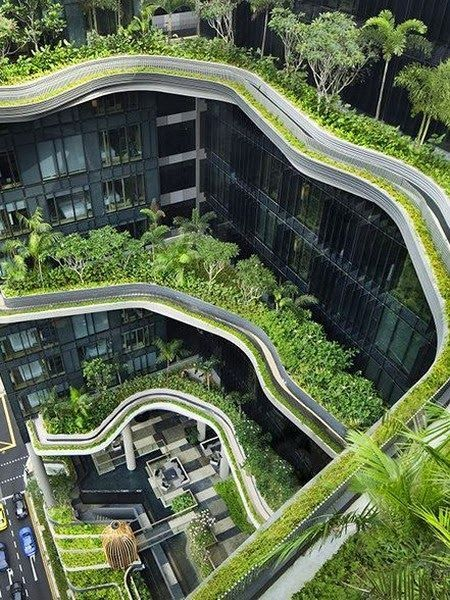 Architectural Designs -A Modern-Day Hanging Gardens Of Babylon #GreenLiving