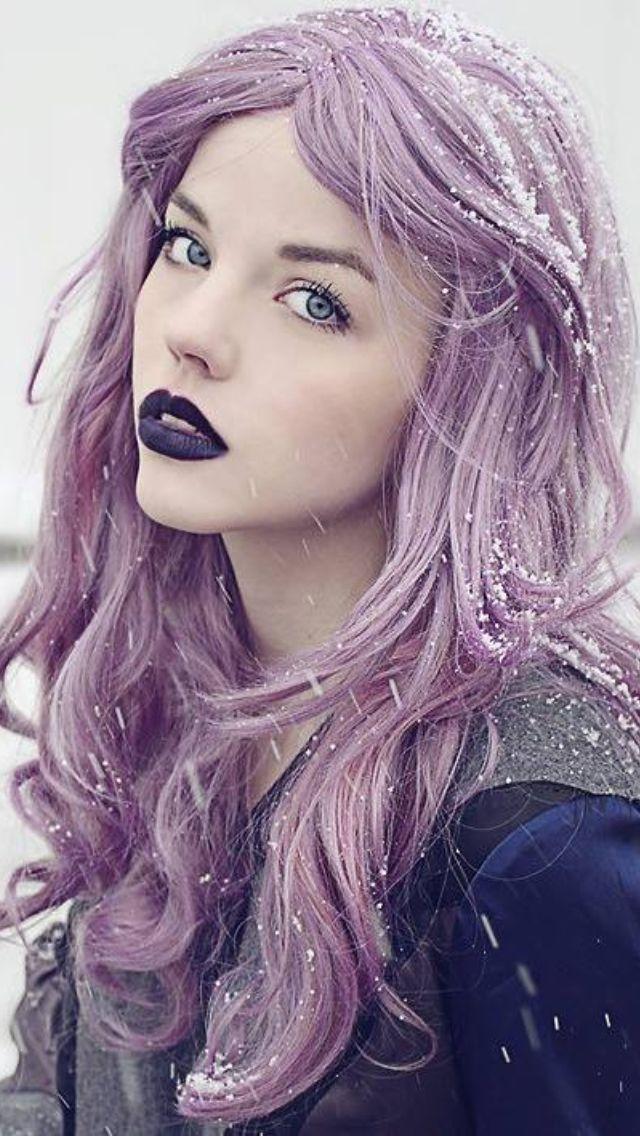 薰衣草的头发,紫色的嘴唇#HelloPurple