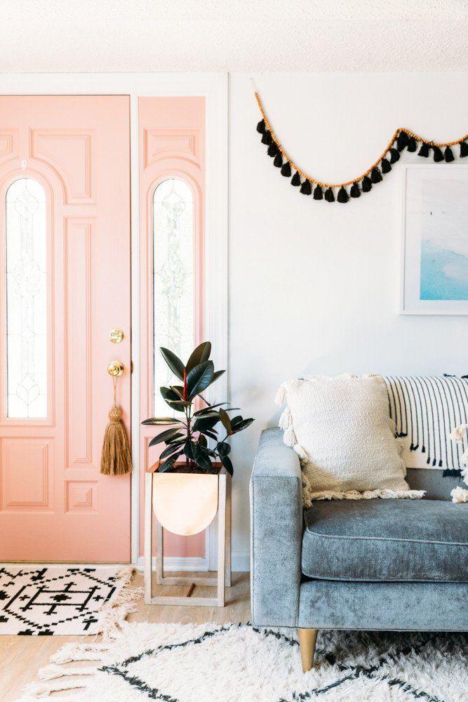 可爱的播种机,粉红色的门