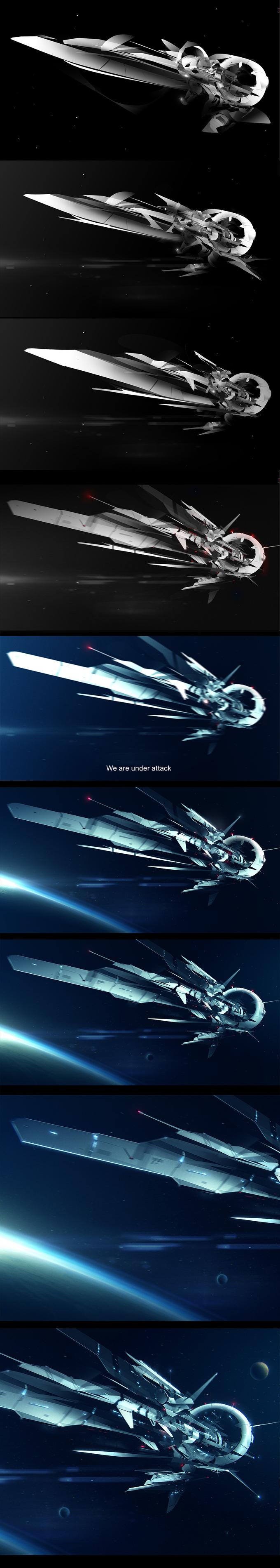 Making of Space journey by jamajurabaev on deviantART via cgpin.com