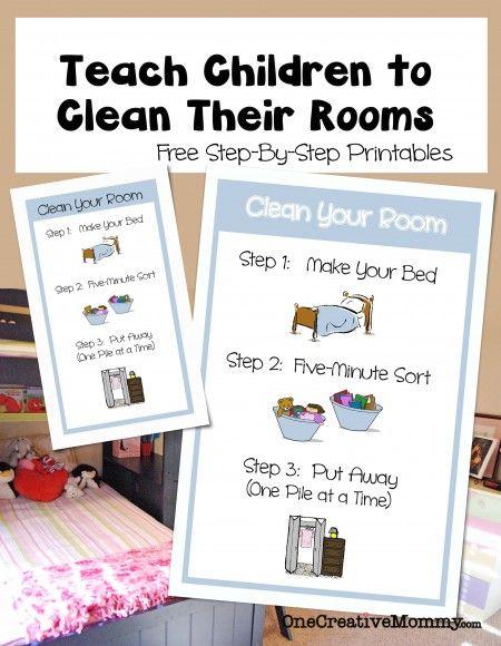有没有想过为什么你的孩子在被问到时不会打扫房间?也许他们不知道如何。下载我的打印件,教孩子们如何打扫他们的房间。