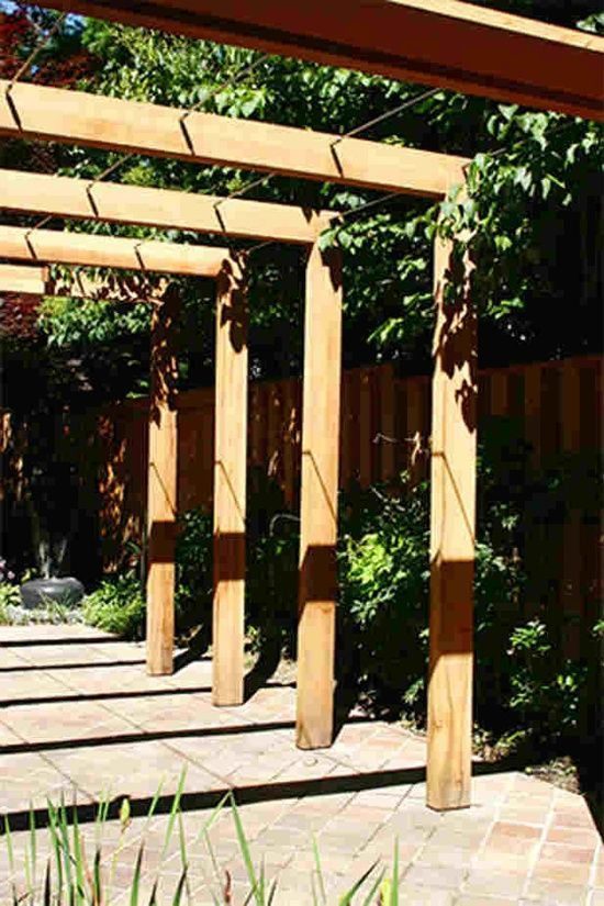 Pergola. Aww, maybe I'll plant grapes there and when the time comes, I can walk through it and pick some