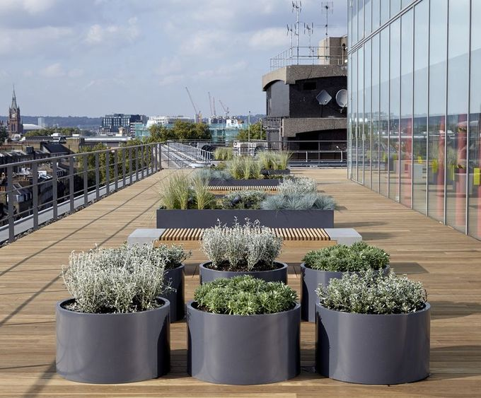 planters on rooftop terraces - Google Search