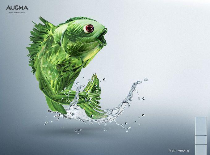 澳柯玛冰箱:鱼| #ads #adv #marketing #creative#publicité#print #poster #advertising #campaign <发现于www.adsoftheworld.com,由www.BlickeDeeler.de收录请访问www.Printwerbung-Hamburg.de