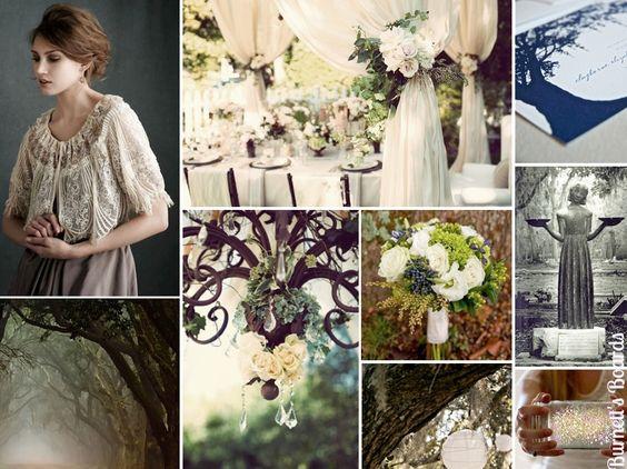 一个午夜在善恶的花园与许多南部哥特式风格的婚礼。