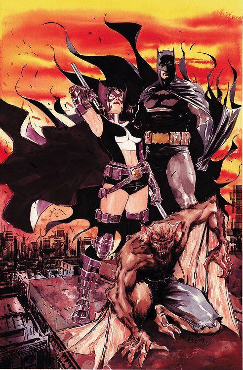 Batman, Huntress and Man-Bat by Dustin Nguyen