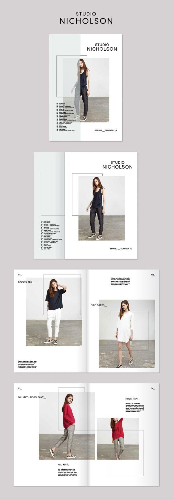 Studio Nicholson Lookbook by Rebecca Moores, via Behance