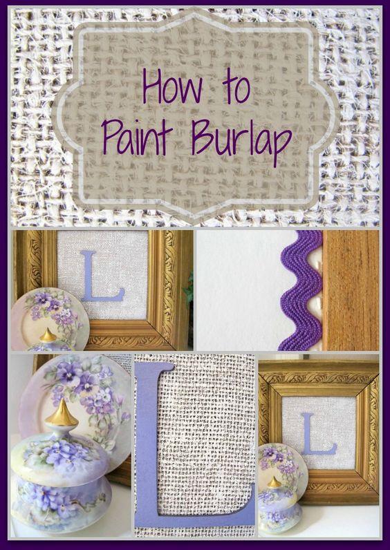 学习如何绘制粗麻布,并创建一个奇妙纹理的墙艺术作品,只需几美元。