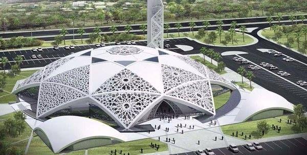تصميم مسجد الشيخ حمدان بن زايد في مدينة العين، الإمارات.