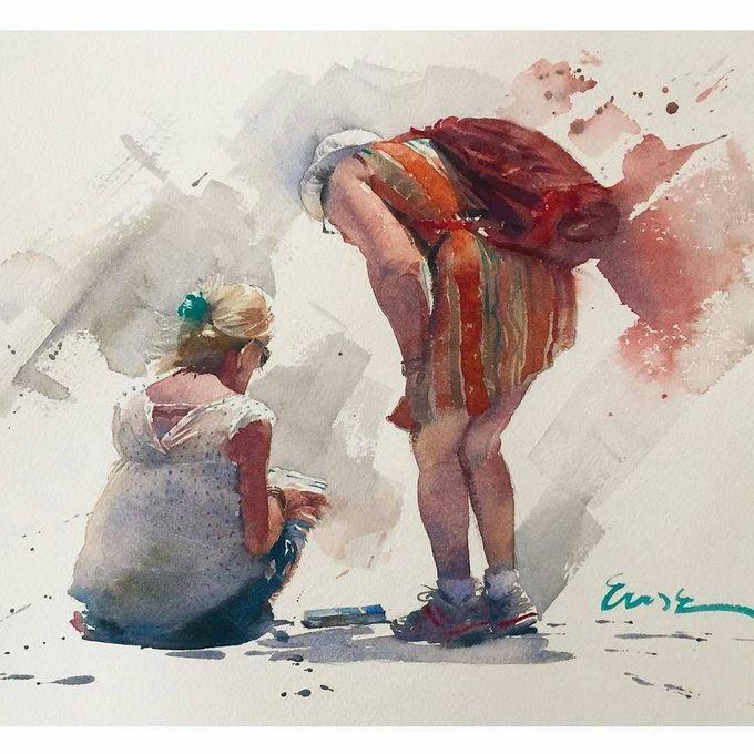 166 mentions J'aime, 1 commentaires - #watercolor#paintig (@worldwatercolor) sur Instagram :