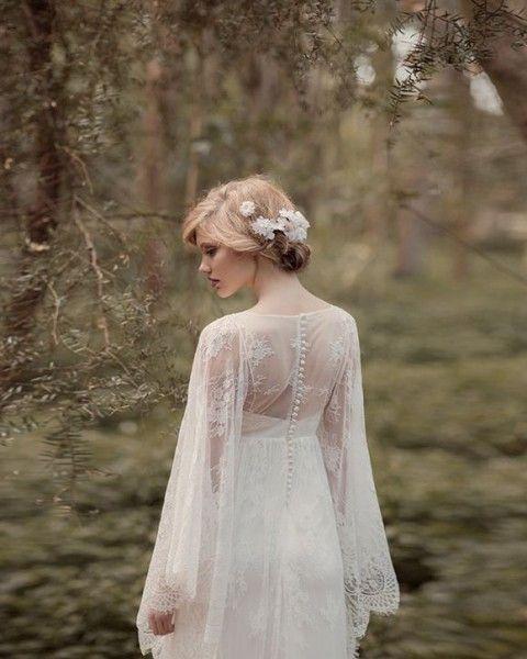 37林地婚纱看起来像森林若虫  HappyWedd.com