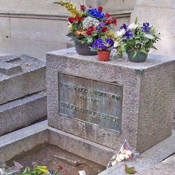 吉姆莫里森墓Pere Lachaise墓地