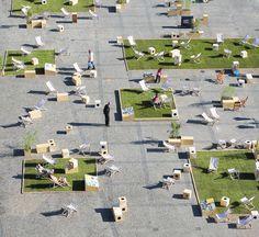 New public space for Targ Węglowy Square by Gdyby Group, in Gdańsk, Poland. Photo: Wojciech Ostrowski