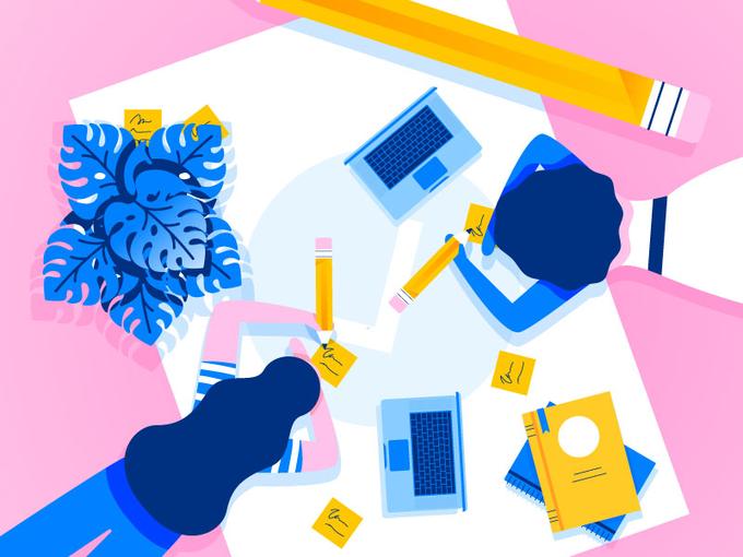 本月的可爱插图 -  2017年10月 - 收集UI设计,UI / UX灵感博客 - 中等