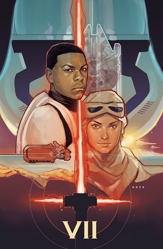Star Wars The Force Awakens - artwork by Phil Noto