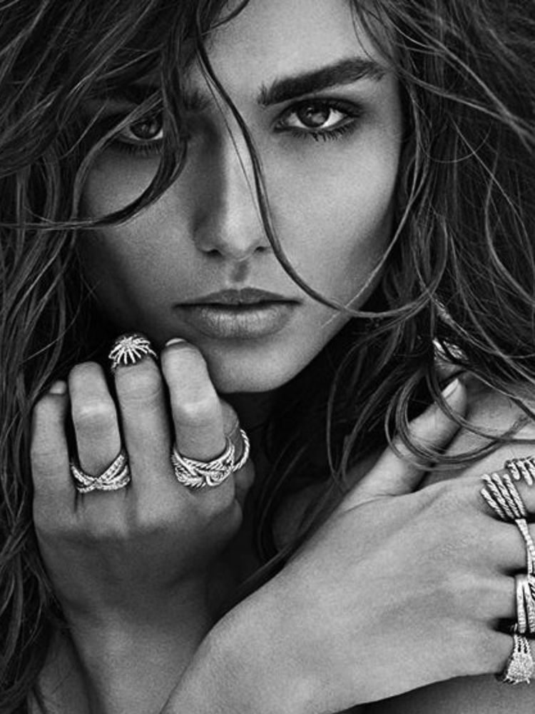 Andreea Diaconu by Mario Sorrenti for David Yurman Spring 2014