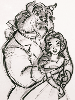 """mickeyandcompany: """" Character designs for Beauty and the Beast (1991), by Glen Keane """""""
