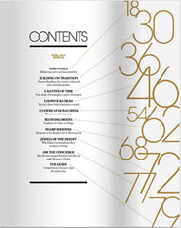 Black and Gold table of contents