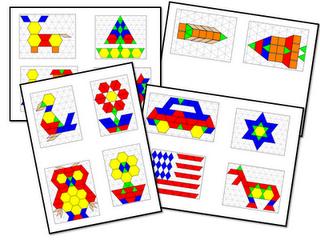 数学工作站书籍研究几何。幼儿园数学中心的想法和自由活动。学生使用2D和3D形状!