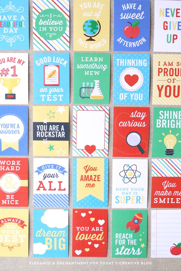 免费可打印午餐盒注意卡片让你和你的孩子感觉更好!回到学校印刷品|在TodaysCreativeLife.com上看到更多创意