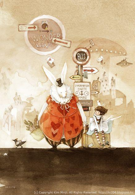 Kim Min Ji   ILLUSTRATION   Alice in Wonderland