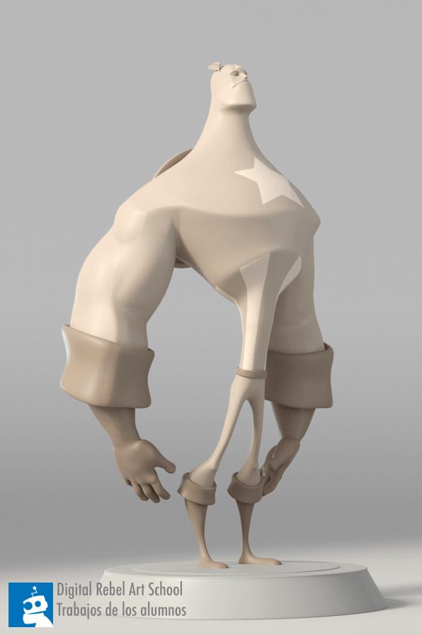 Alex Captain America 3d sculpt