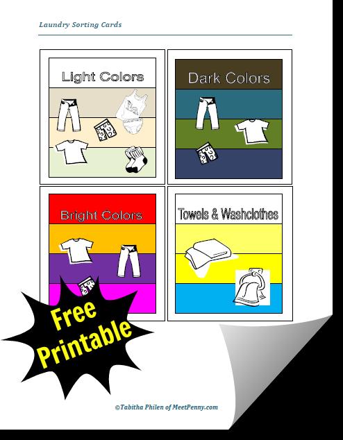 教孩子洗衣服将节省大量的时间,特别是如果你有一个大家庭。使用这些免费的可打印卡片来教你的孩子如何分类他们的衣服。