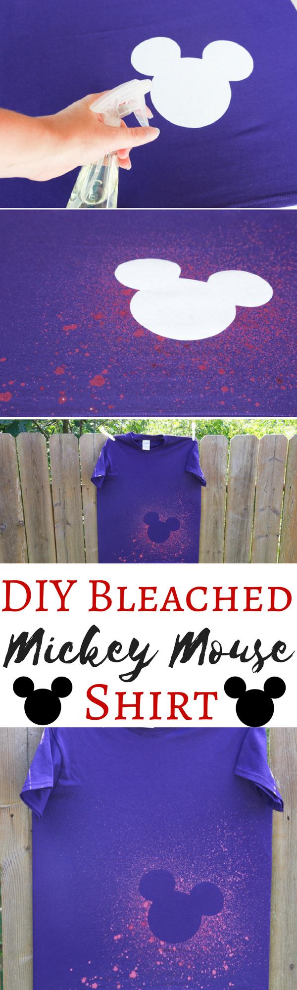 跳过迪斯尼假期的定价过高的衬衫,在离开之前自己创建自己的衬衫。这个DIY漂白米老鼠衬衫效果很好,很容易制作!