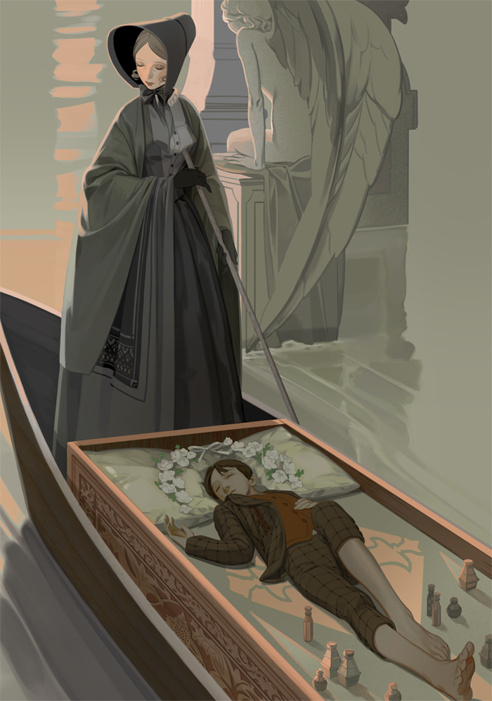 石像鬼,女墓地严重的男孩参考