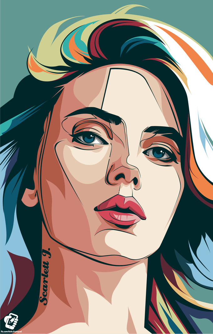 Scarlett J vektor pop syle on Behance