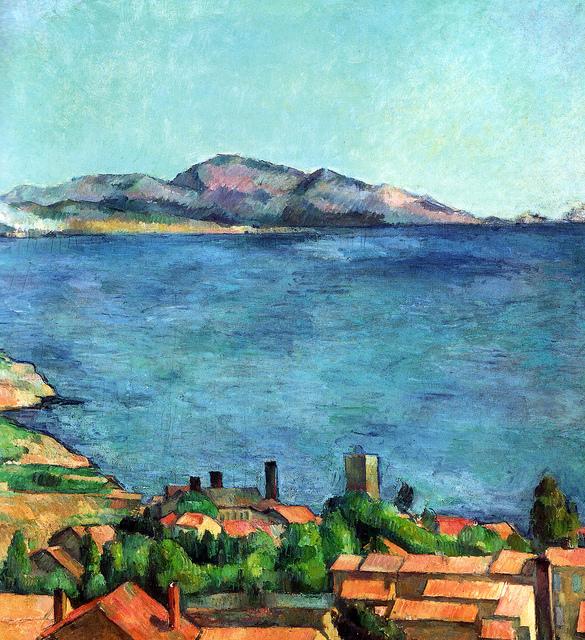 Paul Cezanne  - 马赛湾,1885年在L'Estaque出现在纽约大都会艺术博物馆上榜 -  50本你应该知道的印象派绘画作品