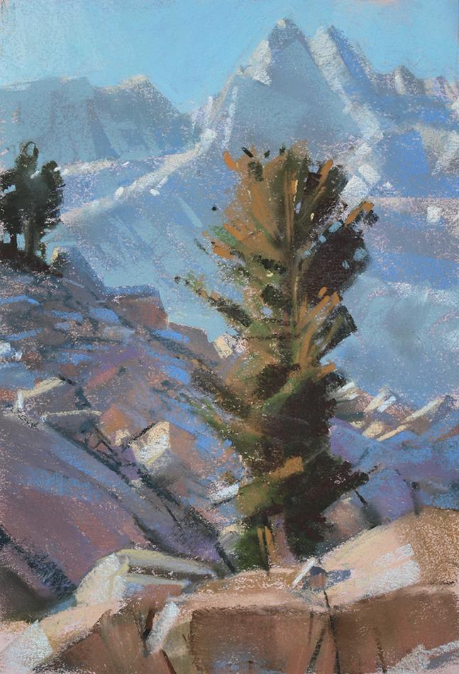 Bill Cone: Talus Wind, pastel