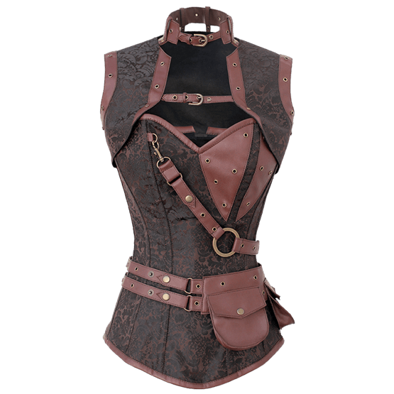 Steampunk Adventurers Corset with Jacket - VG-0015 by Medieval Collectibles