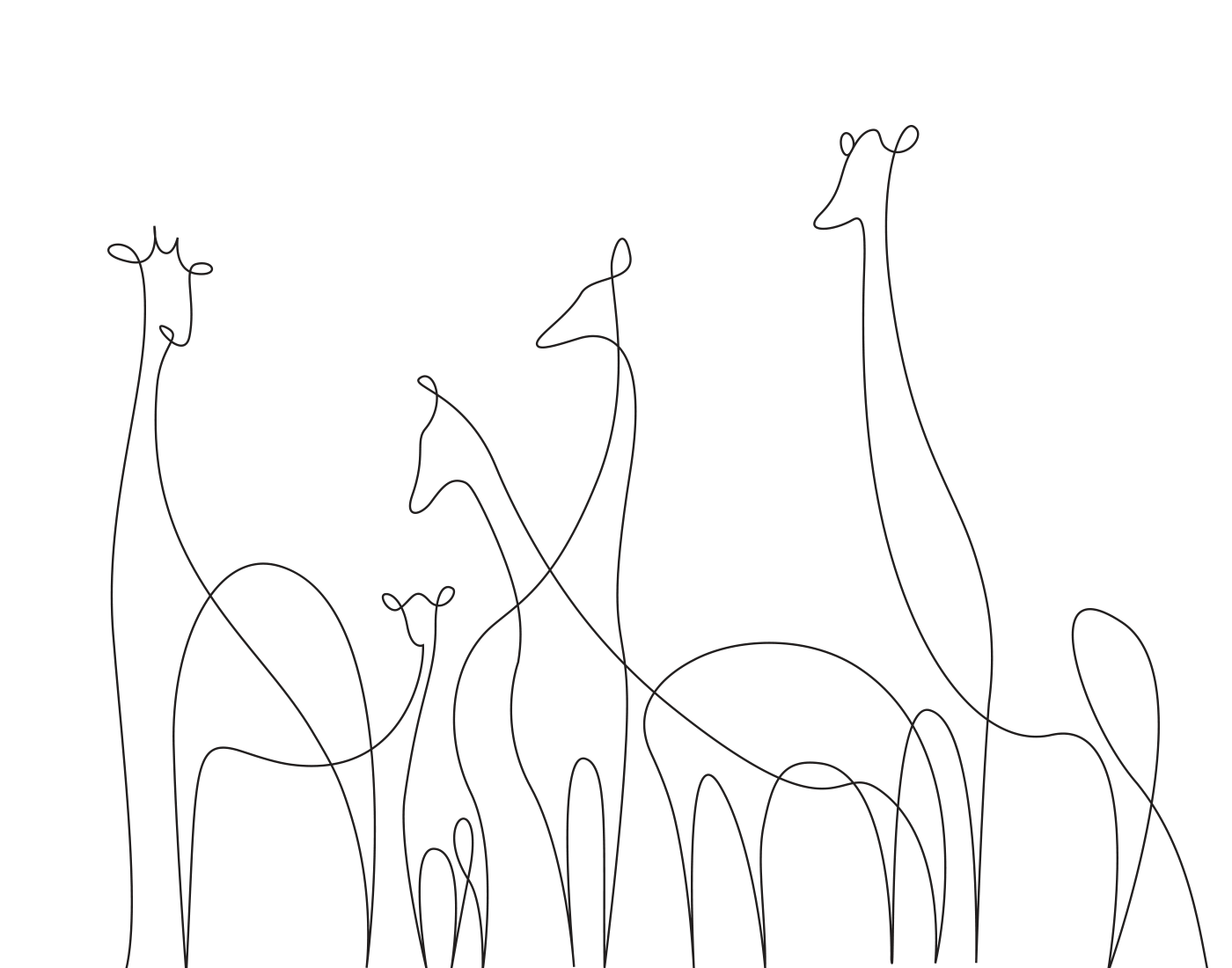 Minimal, Elegant One-Line Drawings Illustrate The Magnificence Of Wild Animals - DesignTAXI.com