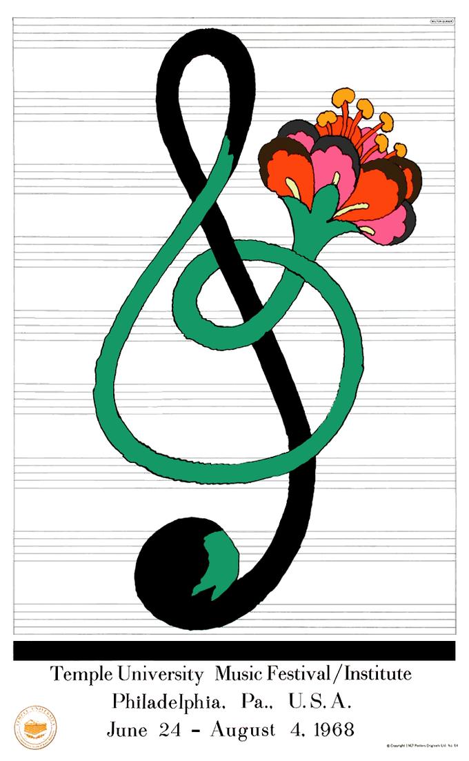 Milton Glaser, Temple University Music Festival, 1968
