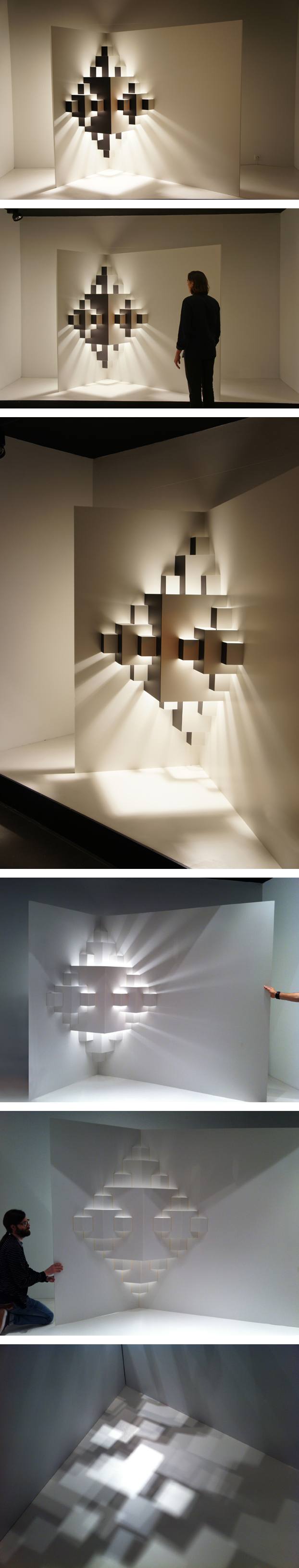 Pixel / Well Well Designers  Window display light installation – paper Dimensions 2,5 x 3