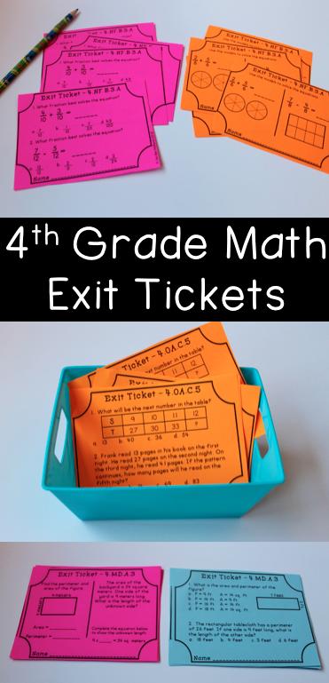 包括78个数学出口门票!每个四年级共同核心数学标准至少包括2张门票。第一张票是免费的应答风格或应用程序样式,而第二张票包含多种选择样式问题。这两个问题样式嵌入到你的测试准备