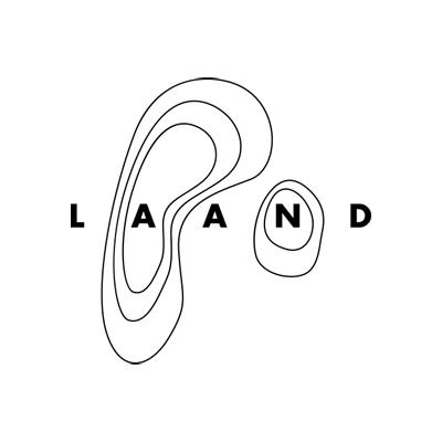 Laand uppercase sans-serif logotype designed by Passport.