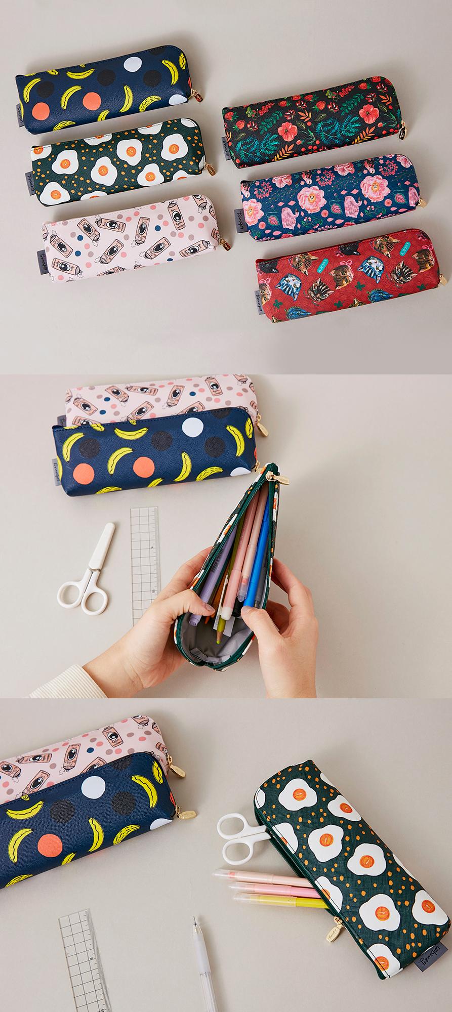*波普艺术笔盒*是一个可爱又有趣的铅笔袋!它有6种独特的风格,以可乐...