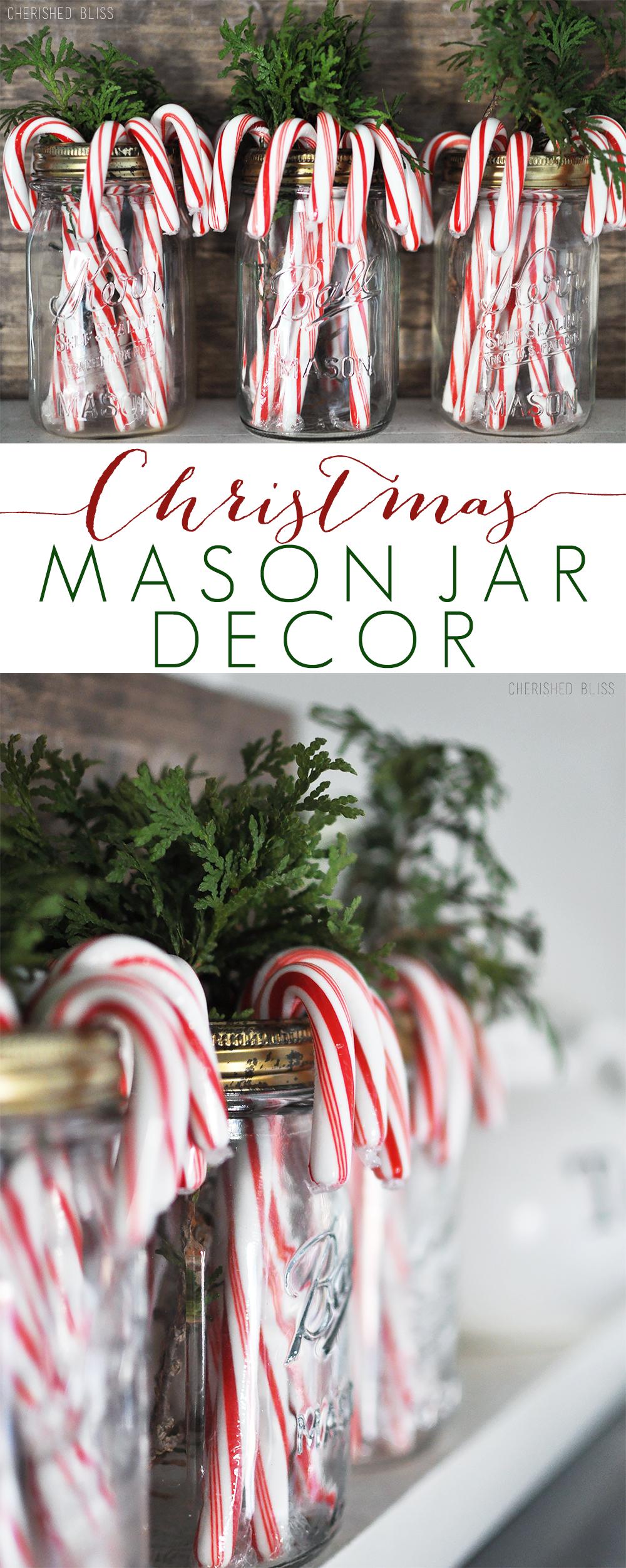 简单而美丽。圣诞节梅森罐装饰是一种轻松的方式,为您的家带来一点假期欢乐!