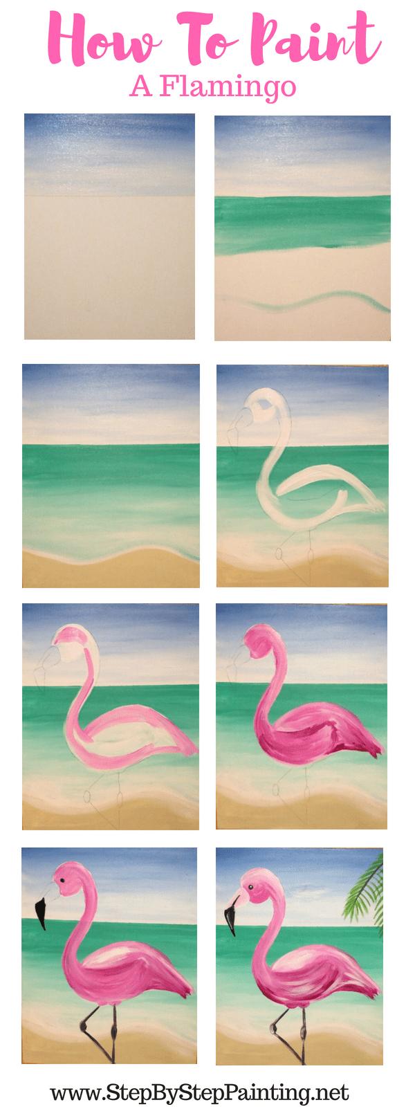 """如何绘制火烈鸟学习如何用丙烯酸涂料在海滩上绘制粉红色的火烈鸟!这一步一步的绘画教程将引导您完成如何绘制一个简单而简单的海滩背景的步骤。然后,我会告诉你如何追踪或绘制火烈鸟,并呈现它......继续阅读""""如何画火烈鸟"""""""