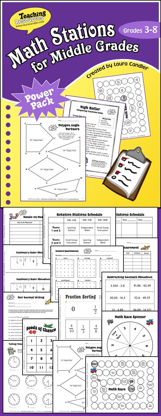 中等数学阶段的数学站是为3  -  6年级设计的,策略可以适用于其他年级。此资源中的管理建议和资源将使您轻松实现数学站或数学中心