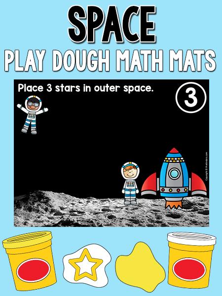 太空玩面团数学垫将帮助你有抱负的年轻宇航员在玩玩面团时练习计数。这些将与太空主题相得益彰。