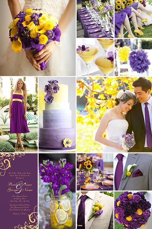 紫色和黄色婚礼:充满活力,活泼的色彩组合,带来欢乐和乐趣!