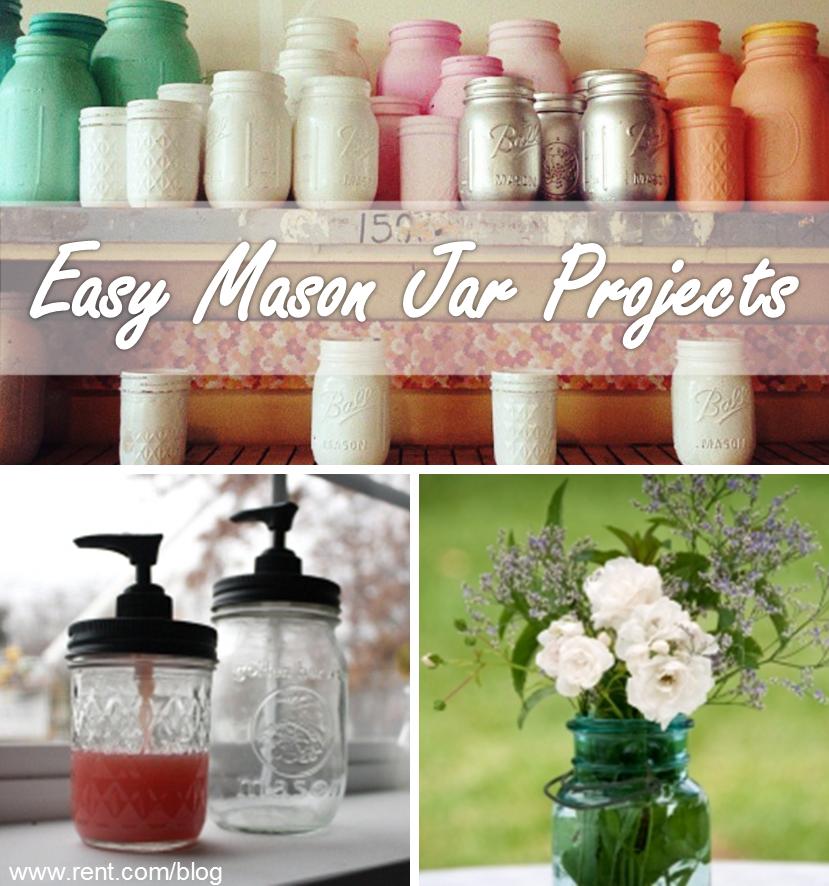 当您按预算装饰时,梅森罐子工艺品可以派上用场。在The Shared Wall博客上查看四个简单的DIY项目与梅森罐!